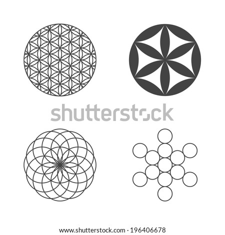 flower of life set of icons