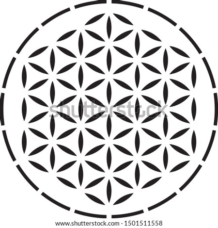 Flower of Life Stencil, sacred geometry