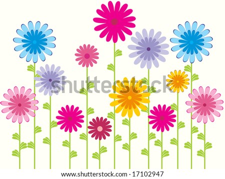 wallpaper vector flower. stock vector : flower pattern