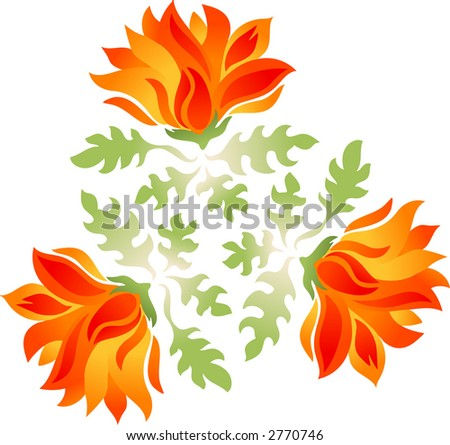 Flower pattern (Vector)