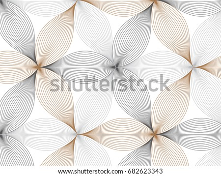 flower pattern vector, repeating linear petal of flower, Geometric vector pattern repeat