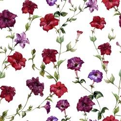 flower pattern, watercolor