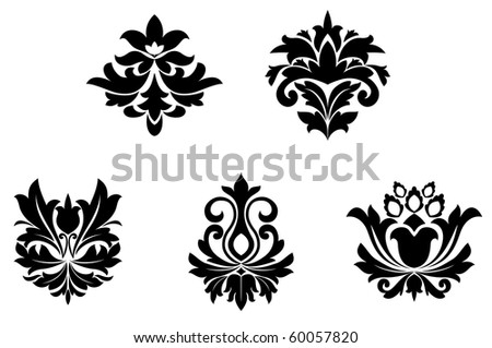 Flower patterns for design and ornate isolated on white. Jpeg version also available in gallery