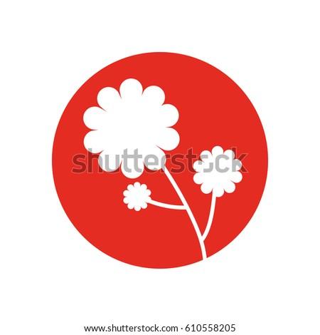 flower plant natural icon vector illusration eps 10