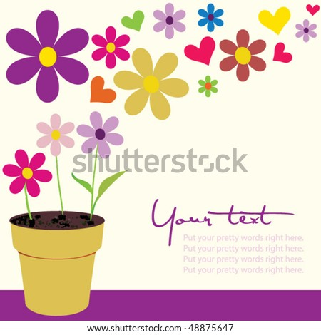flower pot with copy space