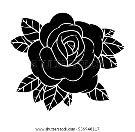 Royalty Free Flower Rose Black And White Isolated 556948081