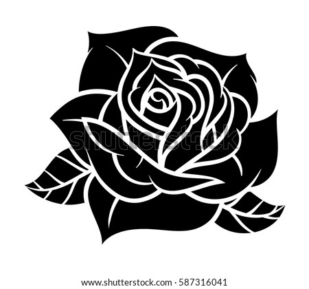 Flower rose black and white isolated on white background vector flower rose black and white isolated on white background vector illustration ez canvas mightylinksfo