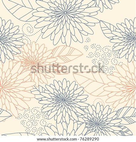 Flower seamless background beige