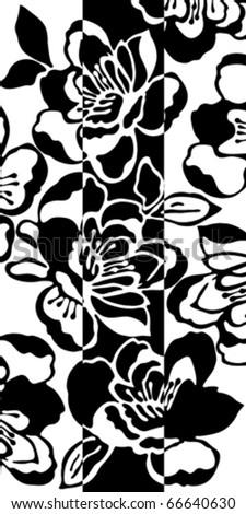 Flower seamless background, element for design, vector illustration
