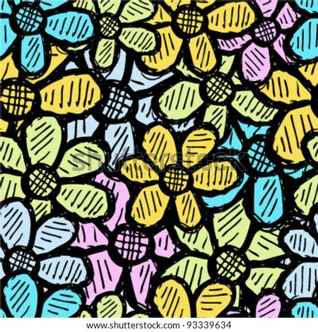 Flower seamless background pattern