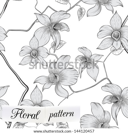 flower seamless pattern can be used for wallpaper, website background, textile printing #144120457