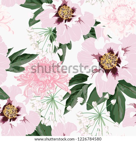 flower seamless pattern with