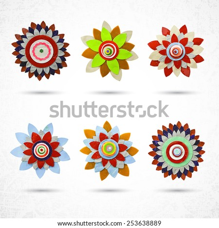 flower set for design  made of