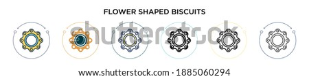 flower shaped biscuits icon in