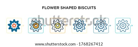flower shaped biscuits vector
