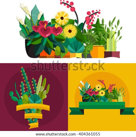 flower shopshopping cart with