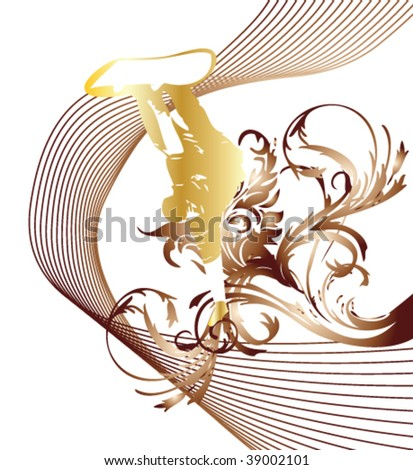 flower snowboard vector background