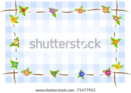 Flower square background
