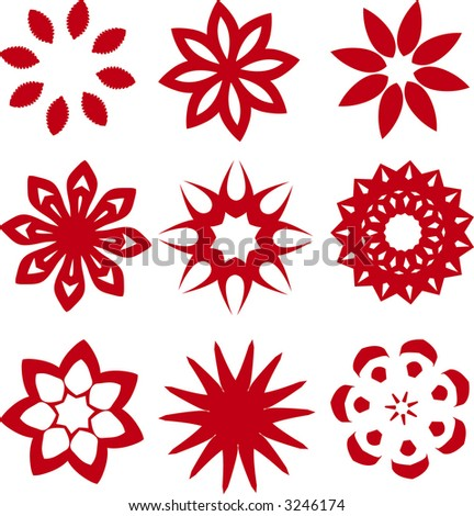 Flower Star Figures Clip art (Vector)