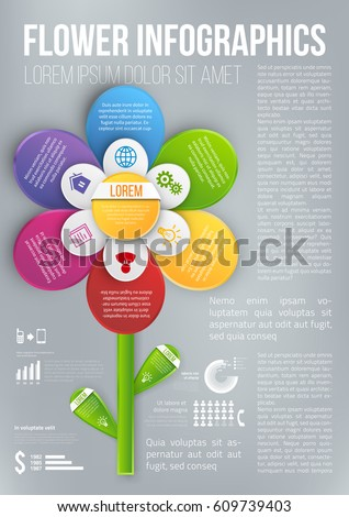 flower style infographic 6