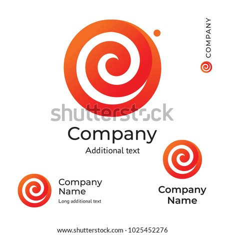Flower Swirl Line Logo Modern Stylish Beauty Identity Brand Symbol Icon Concept Set Template Vector