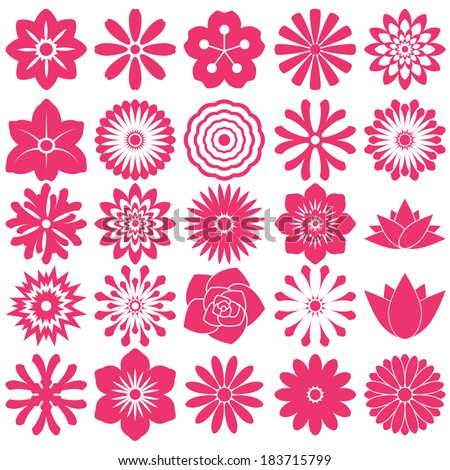 flower symbol icon for pattern
