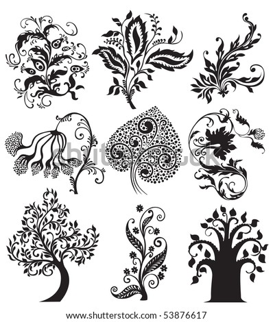 flower tattoo pics. stock vector : Flower tattoo