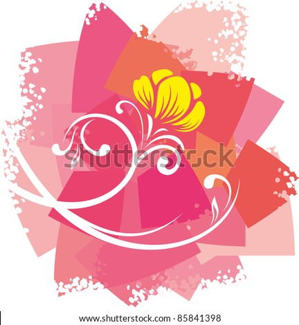 Flower. Vector background.