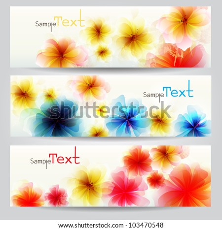 Flower vector background brochure template. Vector design .