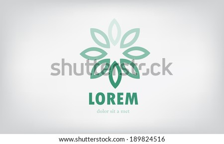 flower vector icon design