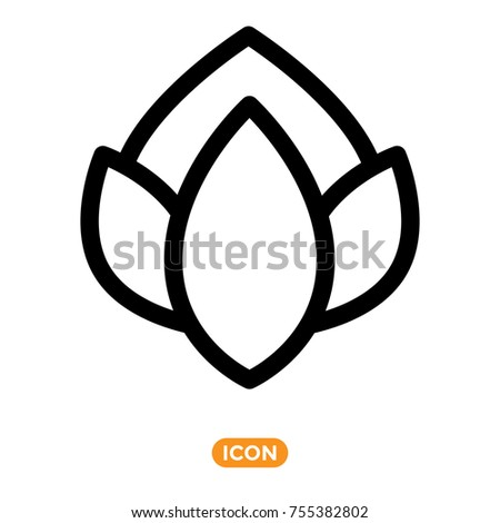 Flower vector icon. Nature Symbol