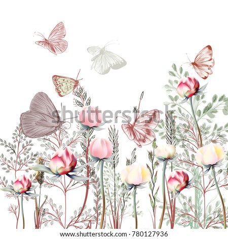 flower vector illustration with