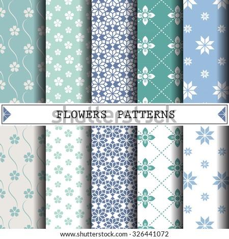 flower vector pattern pattern
