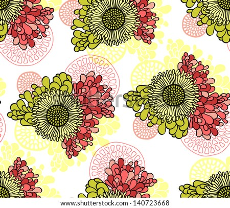 flower vector seamless pattern set, decorative abstract background, home decor, summer colorful background