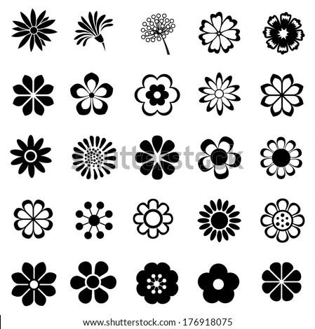 flower vector set flora icon floral set for decoration