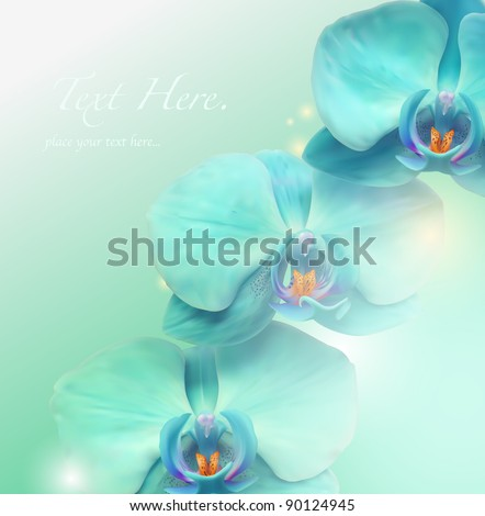 Flower vector spa background