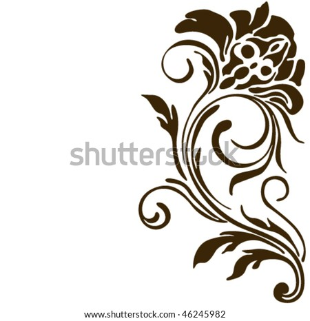 Flower vector tattoo.