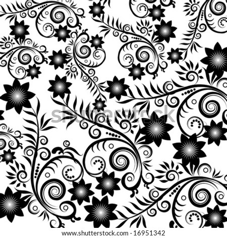 Black flower background Express Projects