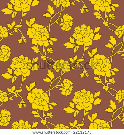 wallpaper vector flower. stock vector : Flower