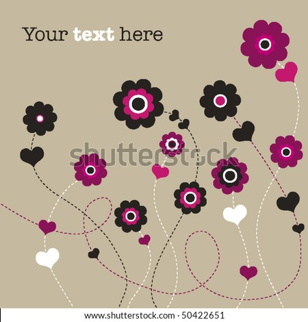 Wedding Flower on Flower Wedding Invitation Card Design In Vector   Stock Vector