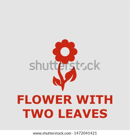 flower with two leaves symbol