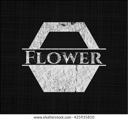 Flower written on a blackboard