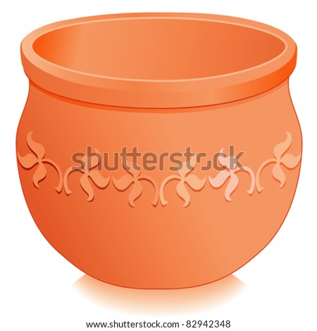 Flowerpot planter with embossed terracotta floral designs round clay ceramic for do it yourself - Aromatic herbs pots multiple benefits ...
