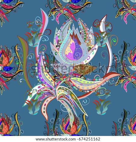 flowers abstract ethnic vector