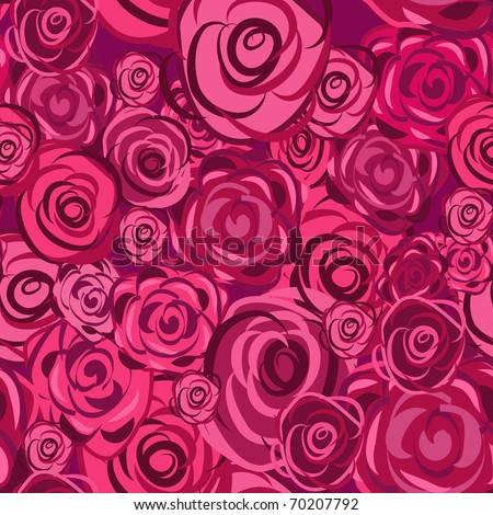 Flowers abstract seamless vector texture in gentle colors