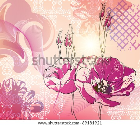 flowers background - stock vector