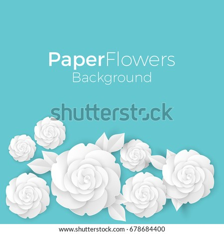 flowers background with paper