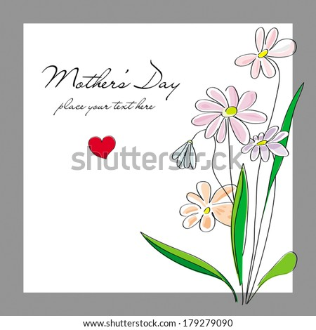 Flowers, card for a Mother\'s Day