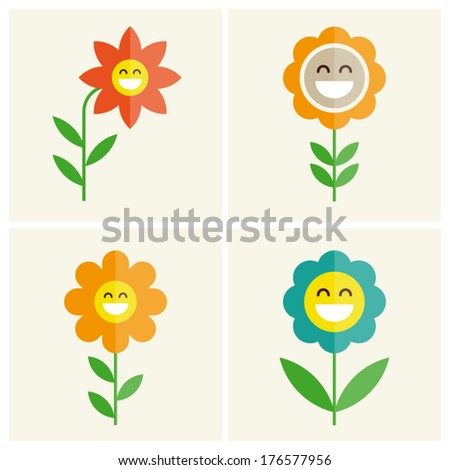 flowers cartoon illustration