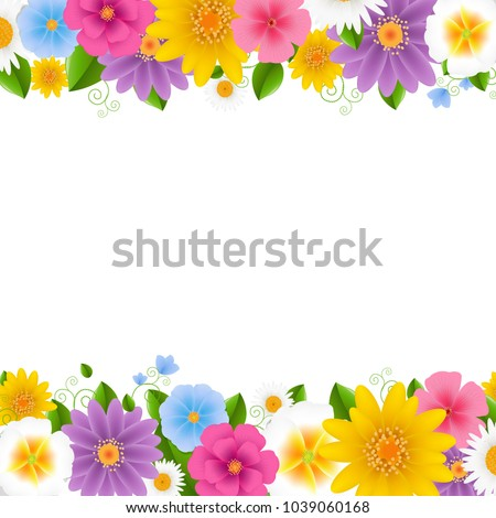 stock-vector-flowers-frame-white-background-with-gradient-mesh-vector-illustration